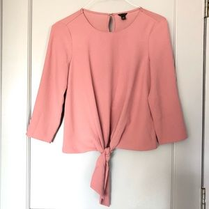 Ann Taylor Top Tie Front Detail